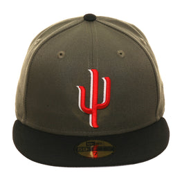 Exclusive New Era 59Fifty Surprise Saguaros Hat - 2T Olive, Black, Red
