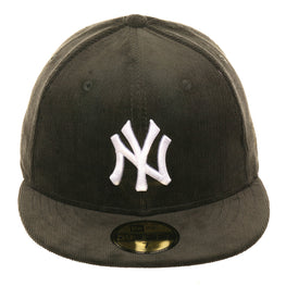 Exclusive New Era 59Fifty New York Yankees Corduroy Hat - Olive