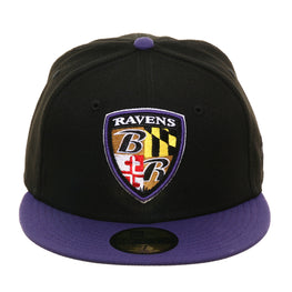 New Era 59Fifty Baltimore Ravens Alternate Hat - 2T Black, Purple