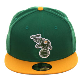 Exclusive New Era 59Fifty Oakland Athletics Alternate Hat - 2T Kelly Green, Gold