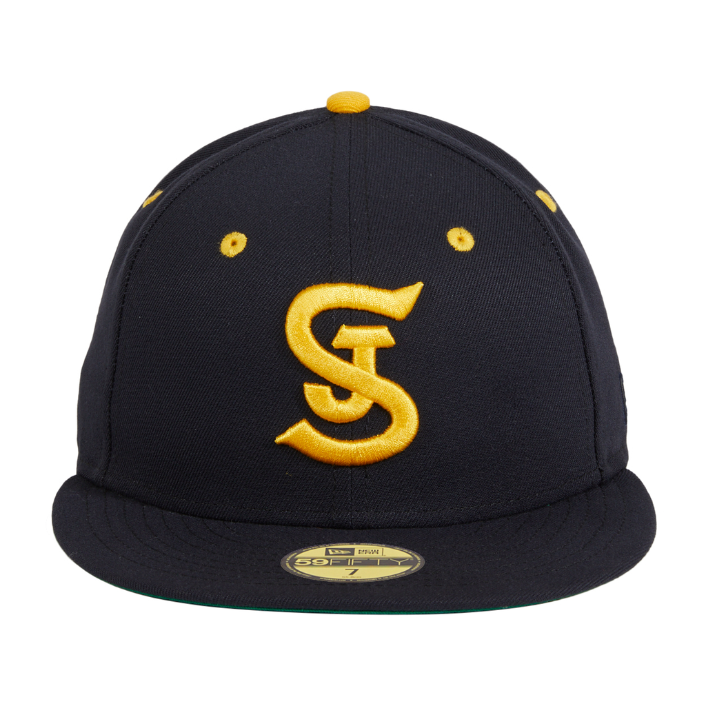 Exclusive New Era 59Fifty San Jose Bees Hat - Navy, Gold
