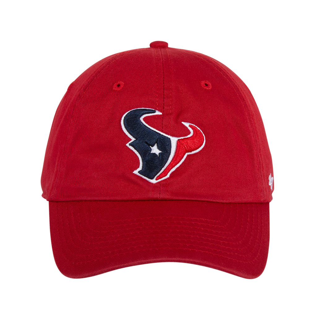 47 Brand Houston Texans Cleanup Adjustable Hat - Red