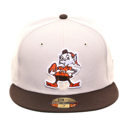 Exclusive New Era 59Fifty Cleveland Browns 1959 Hat - 2T Stone, Brown