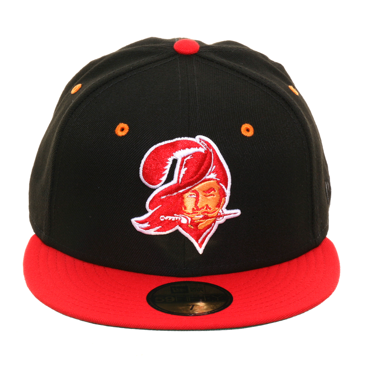 Exclusive New Era 59Fifty Tampa Bay Buccaneers 1976 Hat - 2T Black, Red