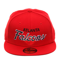 Exclusive New Era 59Fifty Atlanta Falcons Script Hat - Red