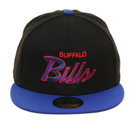 Exclusive New Era 59Fifty Buffalo Bills Script Hat - 2T Black, Royal