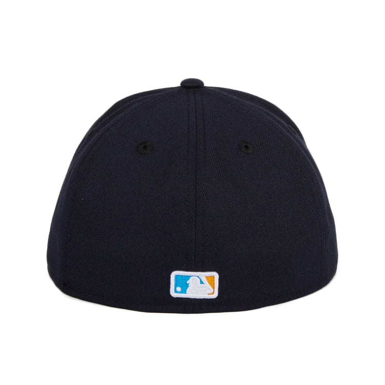 Exclusive New Era 59Fifty Los Angeles Dodgers Sunrise Hat - Navy