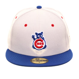 Exclusive New Era 59Fifty Chicago Cubs Wave Hat - 2T Stone, Royal