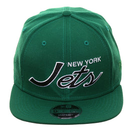 Exclusive New Era 9Fifty New York Jets Script Snapback Hat - Kelly Green