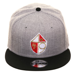 Exclusive New Era 9Fifty San Francisco 49ers Shield Snapback Hat - 2T Heather, Black