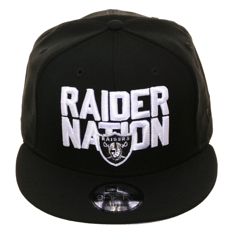 Exclusive New Era 9Fifty Oakland Raiders Raider Nation Snapback Hat - Black