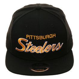 Exclusive New Era 9Fifty Pittsburgh Steelers Script Snapback Hat - Black