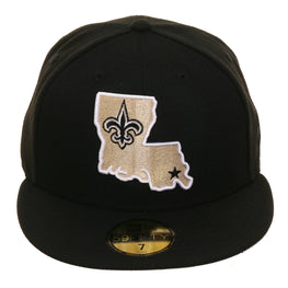 New Era 59Fifty New Orleans Saints State Alternate Hat - Black