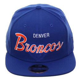 Exclusive New Era 9Fifty Denver Broncos Script Snapback Hat - Royal