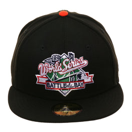 Exclusive New Era 59Fifty San Francisco Giants 1989 Battle Of The Bay Logo Hat - Black