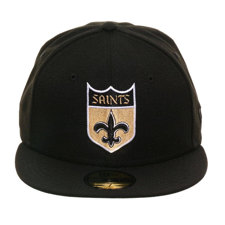 Exclusive New Era 59fifty New Orleans Saints Shield Hat Black