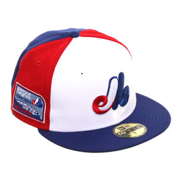 Exclusive New Era 59Fifty Pinwheel Montreal Expos Olympic Stadium Hat - White, Red, Royal