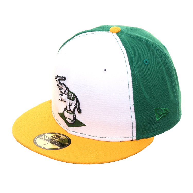 Exclusive New Era 59Fifty Oakland Athletics 1988 Alternate Hat - White, Kelly Green, Gold