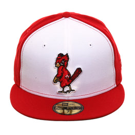 Exclusive New Era 59Fifty St. Louis Cardinals 1949 Rail Hat - White, Red