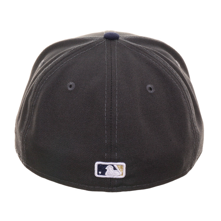 Exclusive New Era 59Fifty Milwaukee Brewers Hat - 2T Graphite, Light Navy