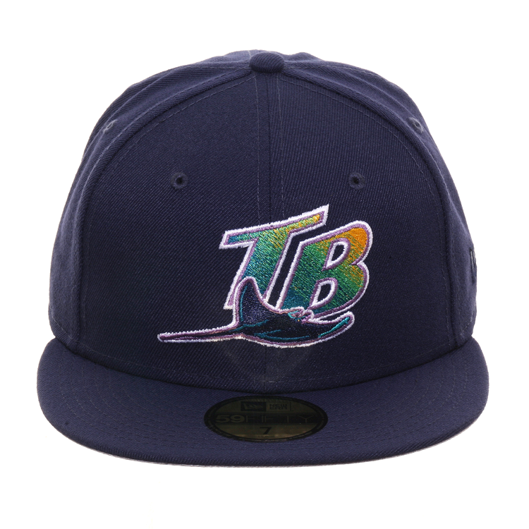 Exclusive New Era 59Fifty Tampa Bay Devil Rays 1998 TB Hat - Light Navy