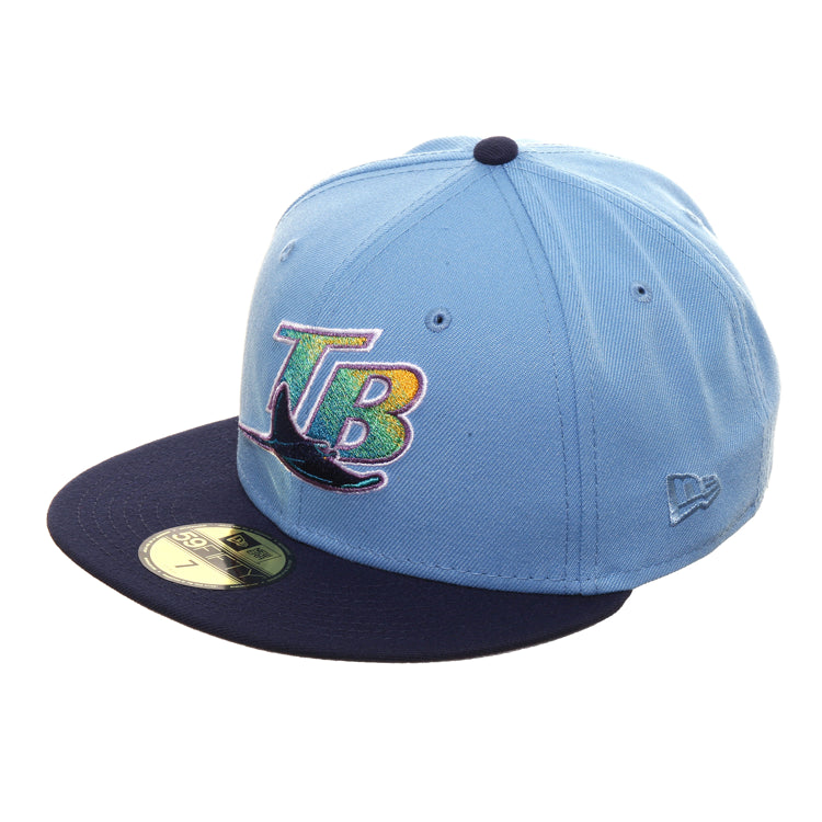 Exclusive New Era 59Fifty Devil Rays 1998 TB Hat - 2T Light Blue, Light Navy