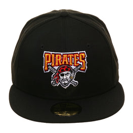 Exclusive New Era 59Fifty Pittsburgh Pirates 1997 Logo Hat - Black