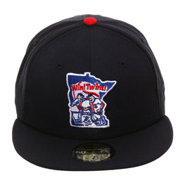 Exclusive New Era 59Fifty Minnesota Twins 1976 Logo Hat - Navy