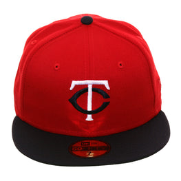 Exclusive New Era 59Fifty Minnesota Twins 1976 Hat - 2T Red, Navy