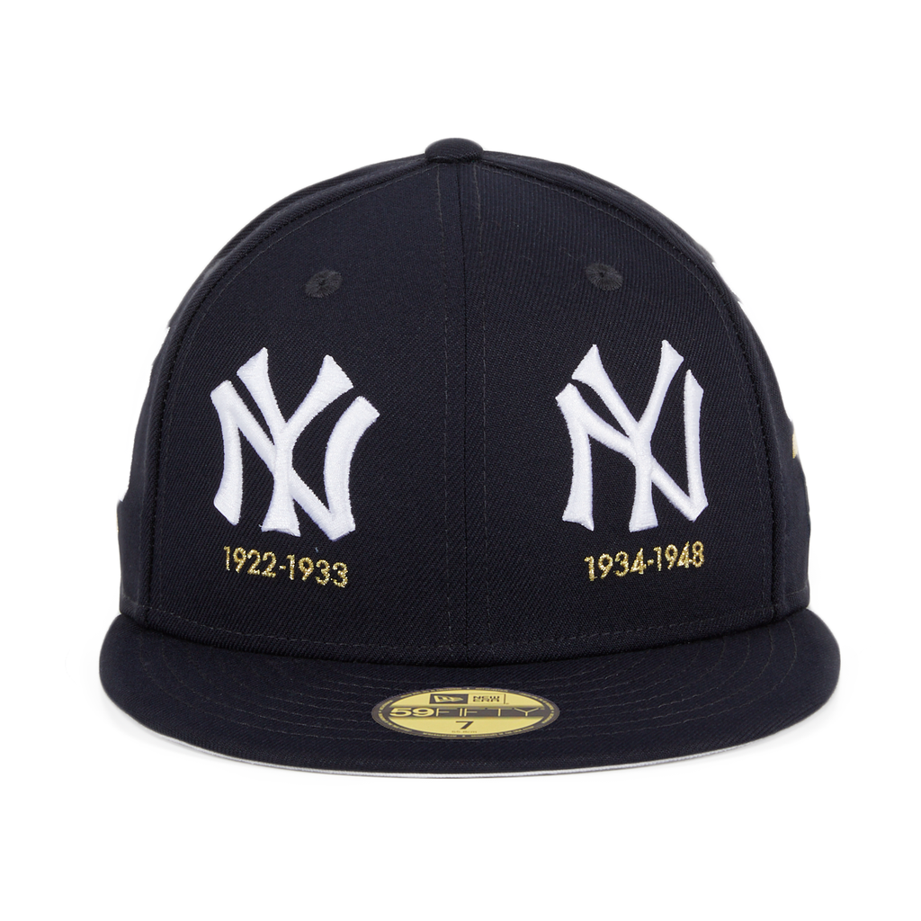 Exclusive New Era 59Fifty New York Yankees Timeline Logo Hat - Navy