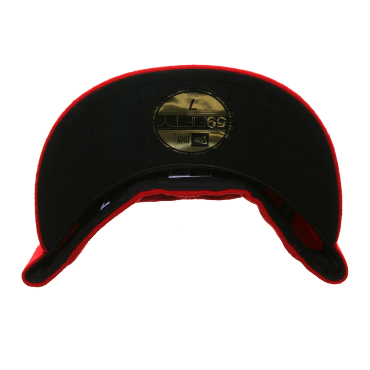 Exclusive Dionic New Era 59Fifty Amsterdam Squabs Hat - Red