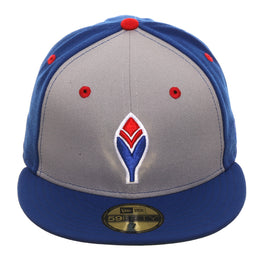 Exclusive New Era 59Fifty Atlanta Braves Feather Rail Hat - Gray, Royal