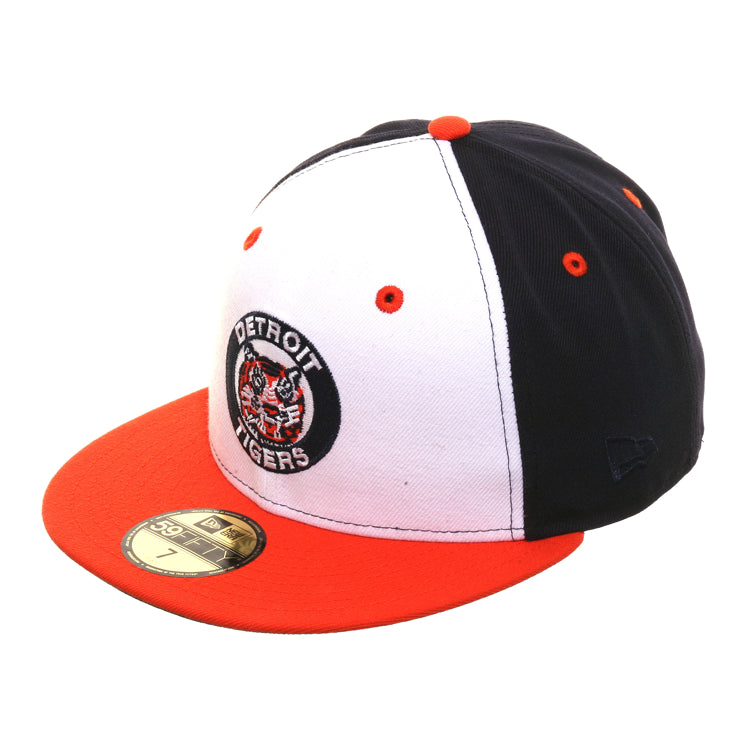 Exclusive New Era 59Fifty Detroit Tigers 1964 Logo Rail Hat - White, Navy, Orange