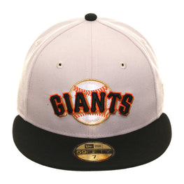 Exclusive New Era 59Fifty San Francisco Giants Logo Hat - 2T Stone, Black
