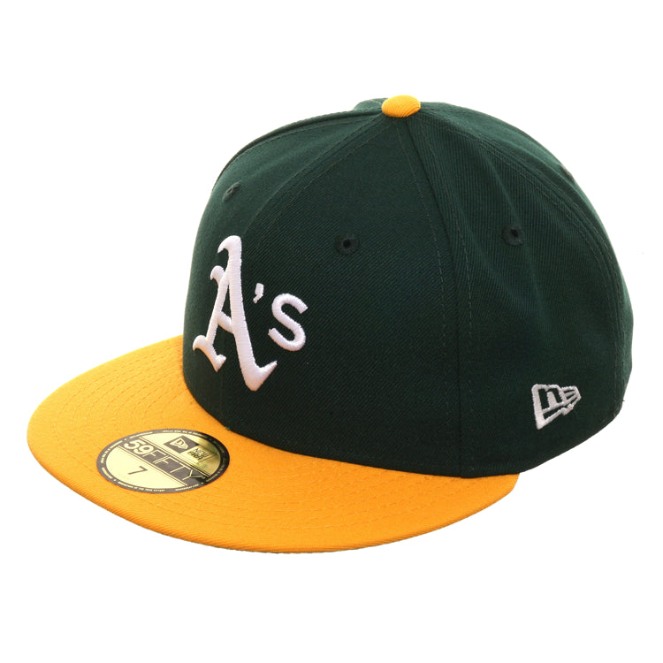 Exclusive New Era 59Fifty Oakland Athletics 1989 World Series Patch Hat -2T Green, Gold