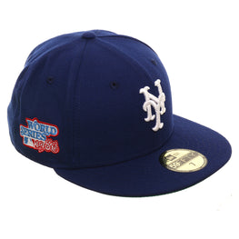 Exclusive New Era 59Fifty New York Mets World Series 1986 Glow In Dark Hat - Royal