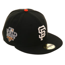 Exclusive New Era 59Fifty San Francisco Giants 2010 World Series Glow In Dark Hat - Black