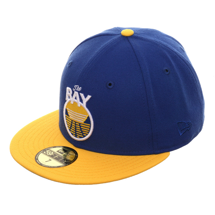 New Era 59Fifty Golden State Warriors Bay Hat - 2T Royal, Gold