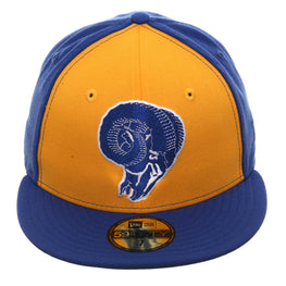 Exclusive New Era 59Fifty Los Angeles Rams 1970 Rail Hat - Gold, Royal