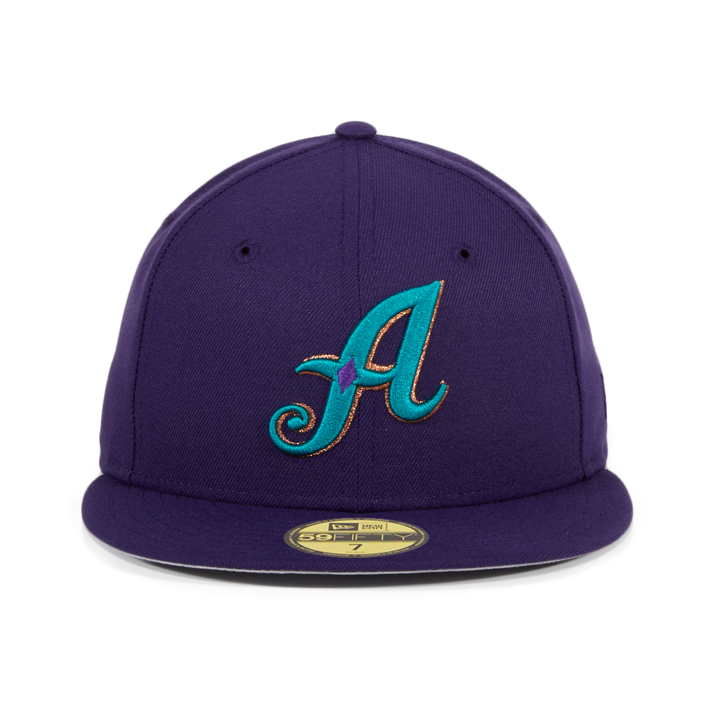 Exclusive New Era 59Fifty Reno Aces Hat - Purple, Teal, Metallic Copper