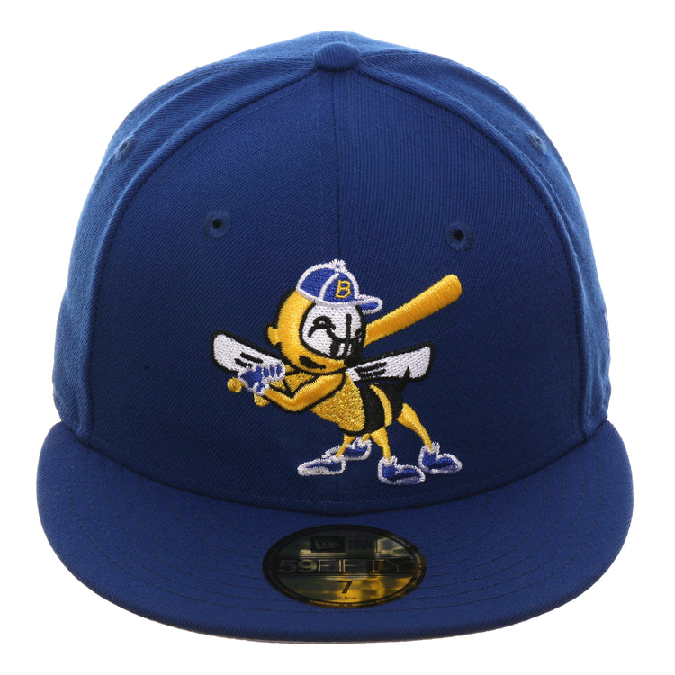 Exclusive New Era 59Fifty Burlington Bees 1999 Hat - Royal