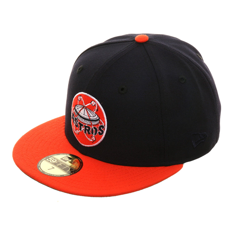 Exclusive New Era 59Fifty Houston Astros 1965 Logo Hat - 2T  Navy, Orange