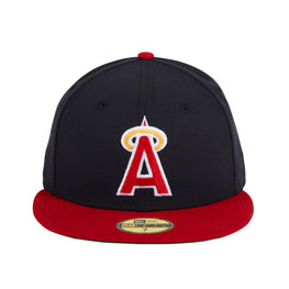 Exclusive New Era 59Fifty Los Angeles Angels 1989 Hat - 2T Navy, Red