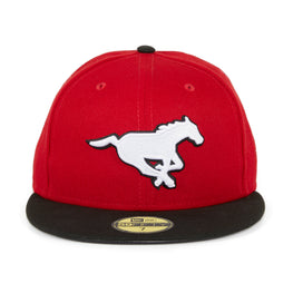 New Era 59Fifty Calgary Stampeders Hat - 2T Red, Black