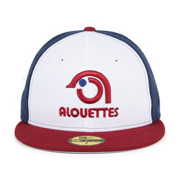 New Era 59Fifty Montreal Alouettes Hat - Navy, White, Cardinal