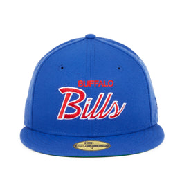 Exclusive New Era 59Fifty Buffalo Bills Script Hat - Royal