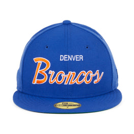 Exclusive New Era 59Fifty Denver Broncos Script Hat - Royal