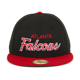 Exclusive New Era 59Fifty Atlanta Falcons Script Hat - 2T Black, Red