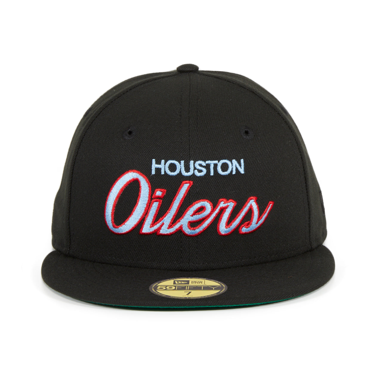 Exclusive New Era 59Fifty Houston Oilers Script Hat - Black