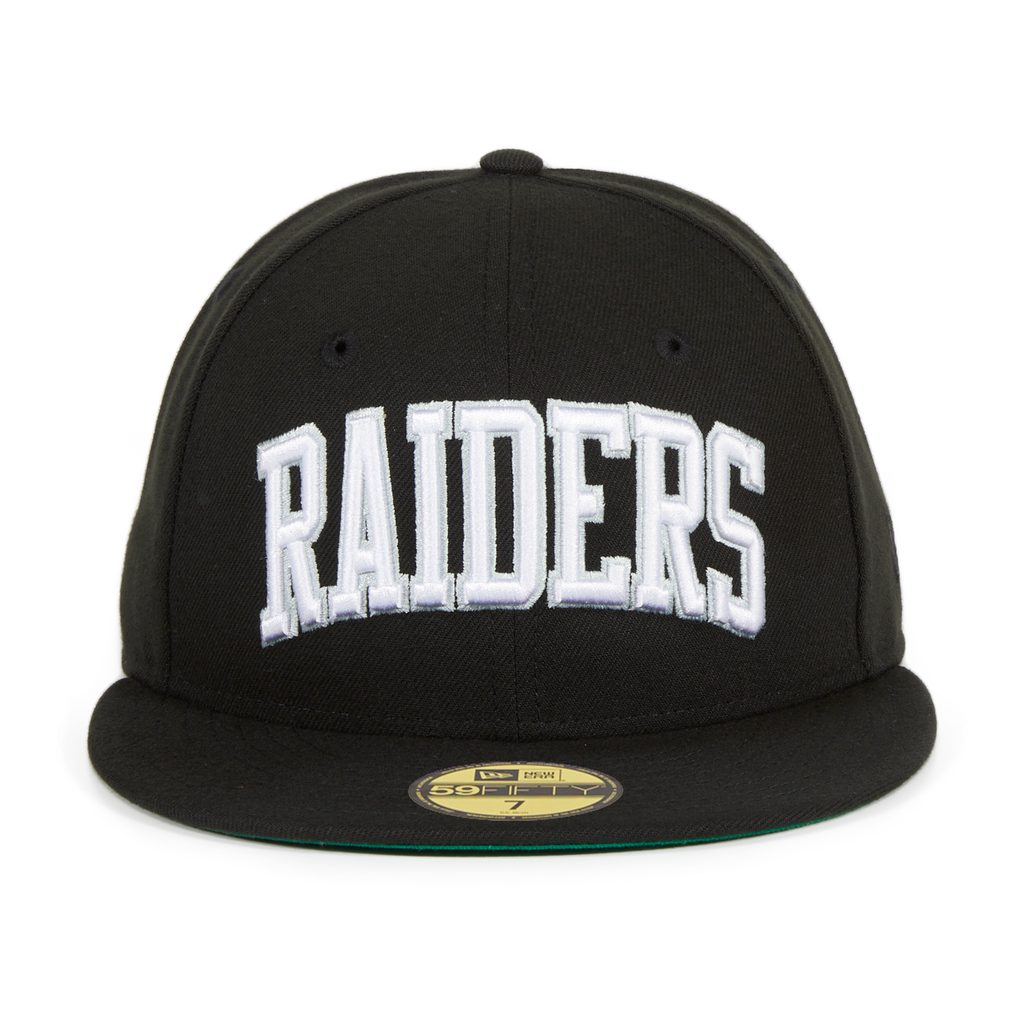 Exclusive New Era 59Fifty Oakland Raiders Arch Hat - Black
